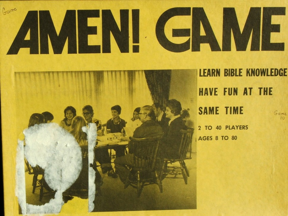 "The ""Amen!"" Game: 1970s Christian board game, scanned online"