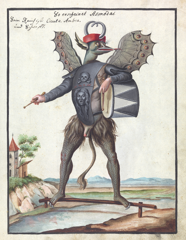 Illustration of Asmodai (MS 1766) Credit: Wellcome Library, London.