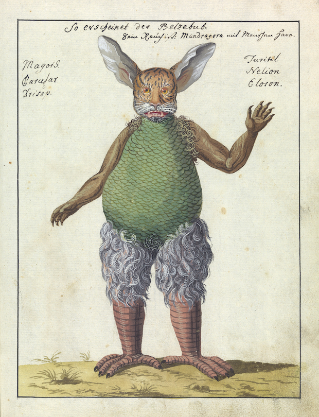Illustration of Beelzebub, MS 1766 Credit: Wellcome Library, London.