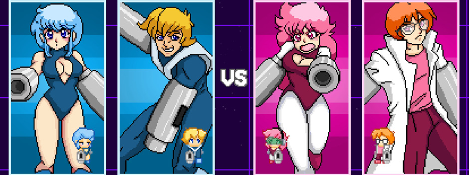 Battle your friends in a game inspired by 1980s space anime