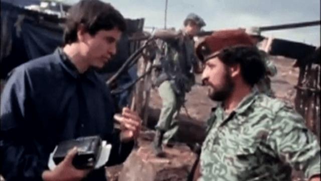 "Allan Nairn interviewing ""Major Tito,"" now better known as Guatemalan President Otto Perez Molina."