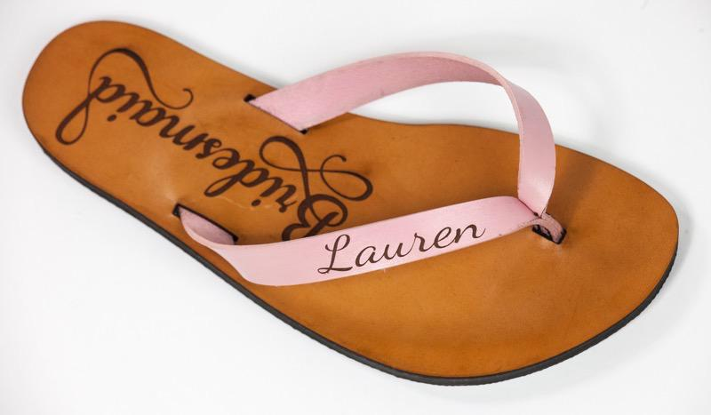 Glowforge leather sandals