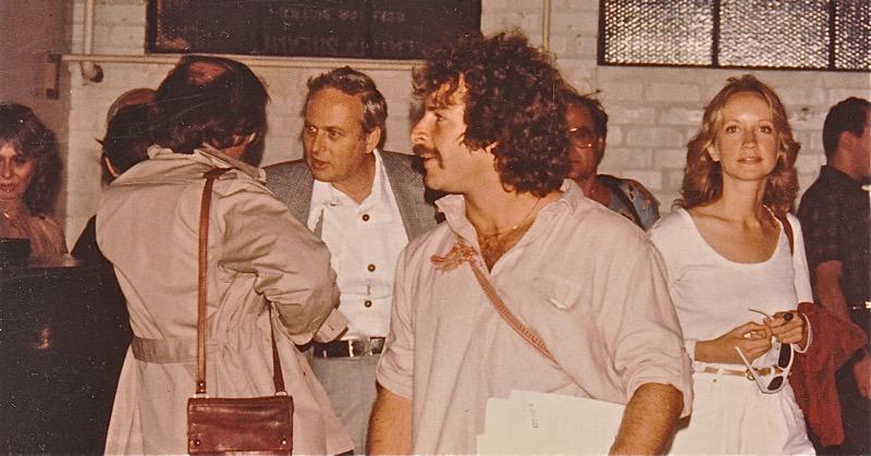 Rick Doblin, center,  Deborah Harlow to his left.