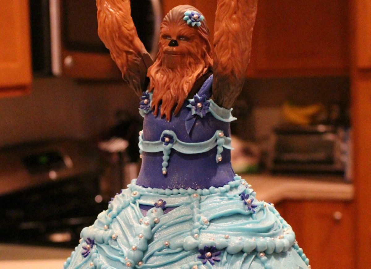 Three Year Old Sophie S Princess Chewbacca Birthday Cake