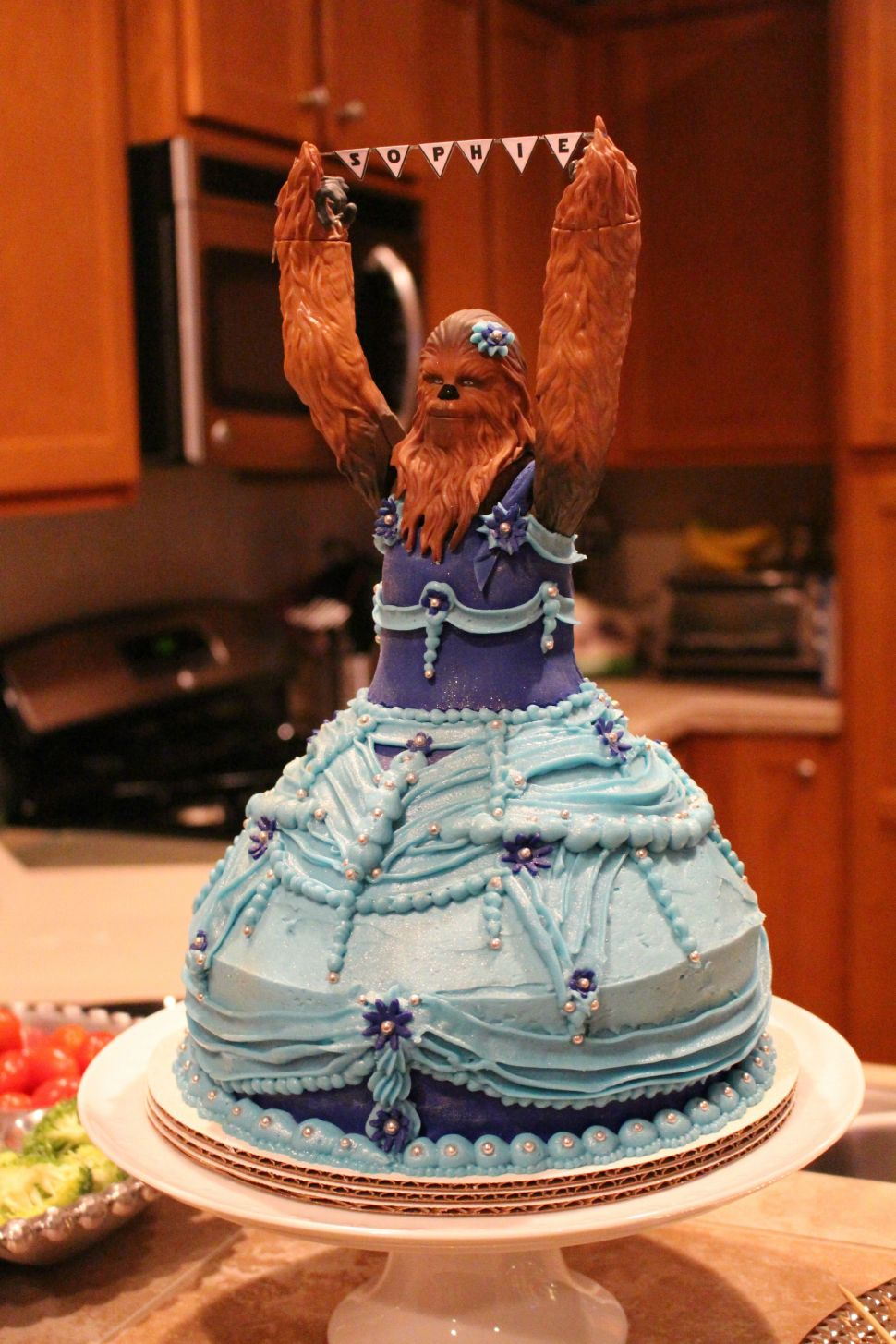 Three Year Old Sophies Princess Chewbacca Birthday Cake Boing Boing