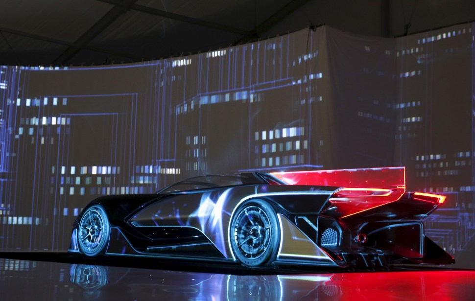 The Faraday Future FFZERO1 electric concept car is unveiled. REUTERS