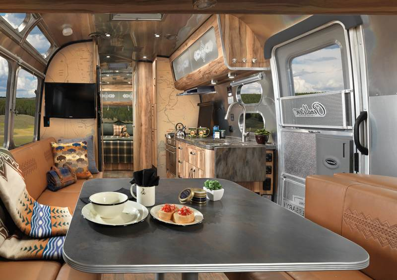 a look at airstream 39 s new limited edition 114 600 trailer. Black Bedroom Furniture Sets. Home Design Ideas