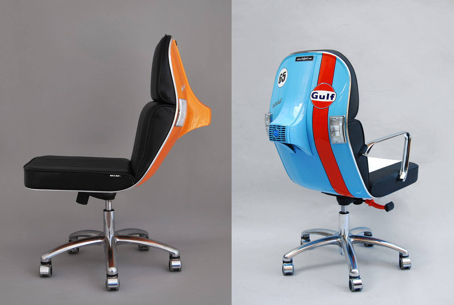 Office Chairs Made Out Of Old Vespa Scooters / Boing Boing