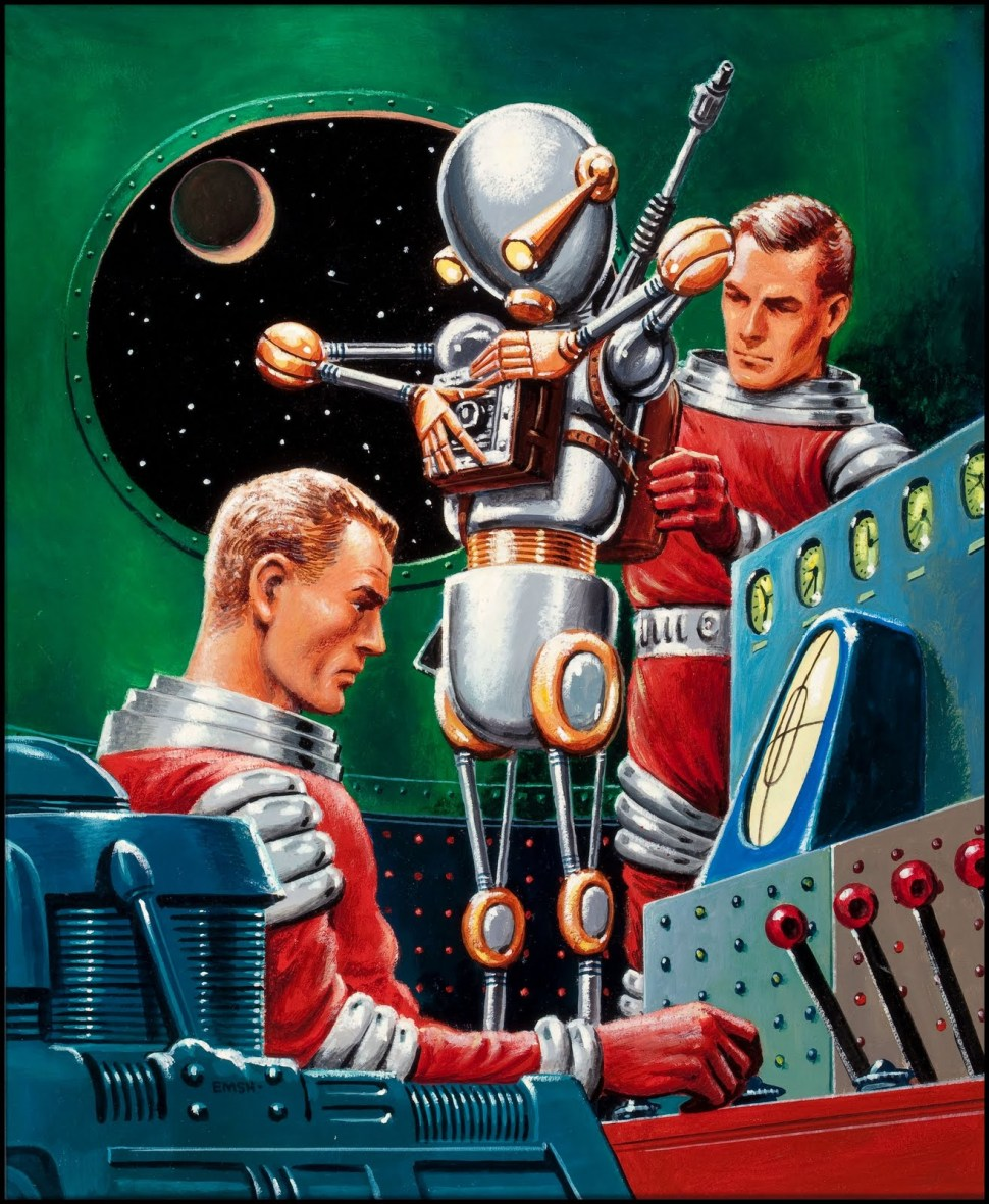 Unknown Science Fiction digest cover by Edward Emshwiller, no date.