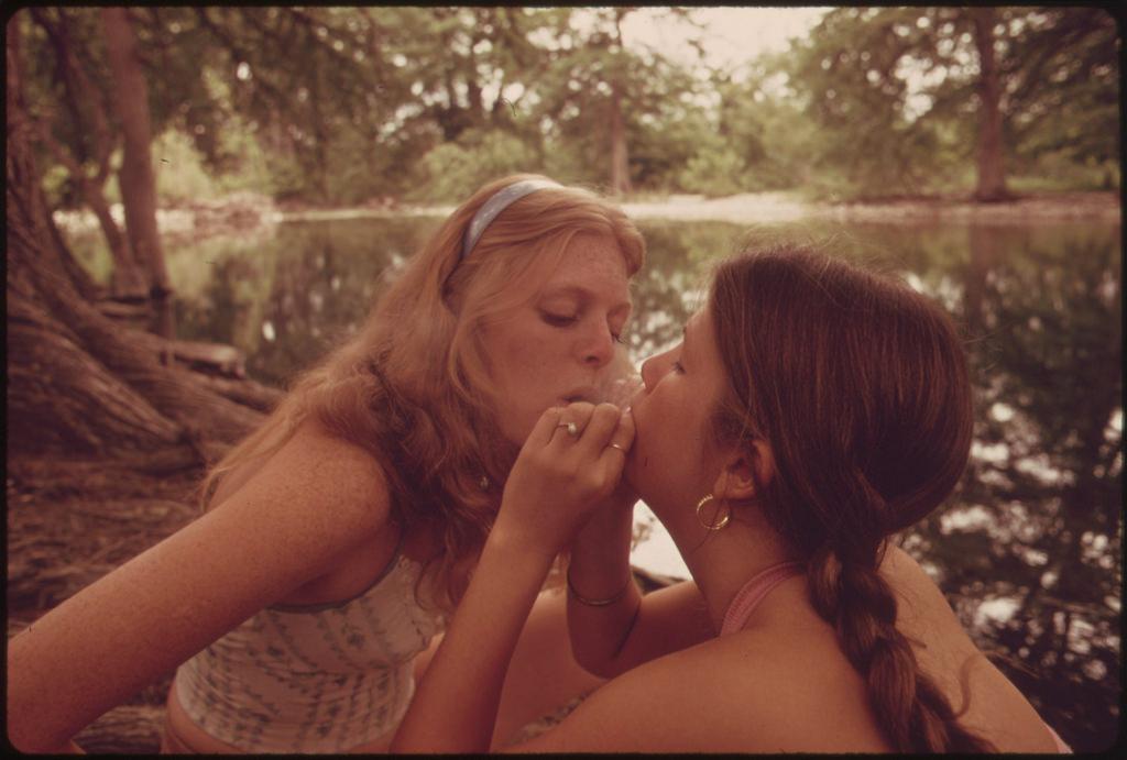 Sensual photos of teens smoking marijuana, taken for the U.S. government in 1973