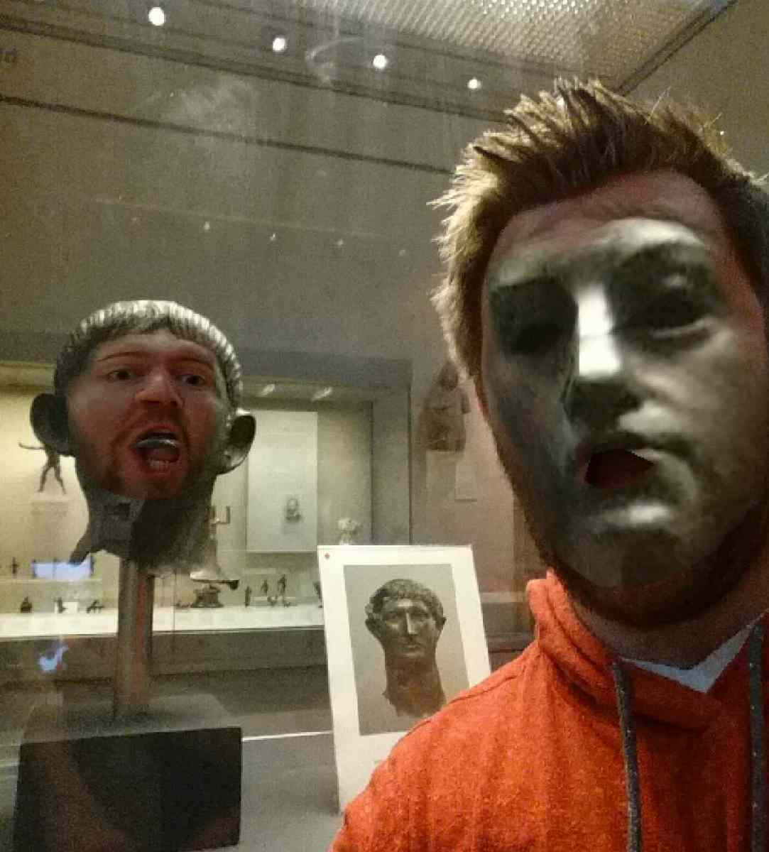 Swapping Faces With Statues Is Rather Disturbing Boing Boing