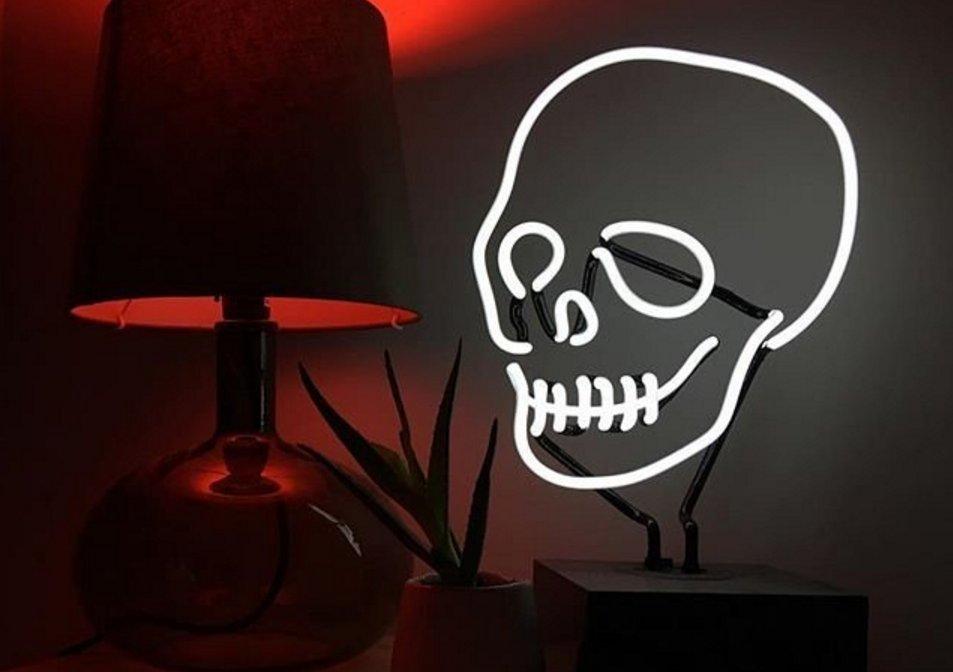 Neon Skull Desk Lamp Boing Boing