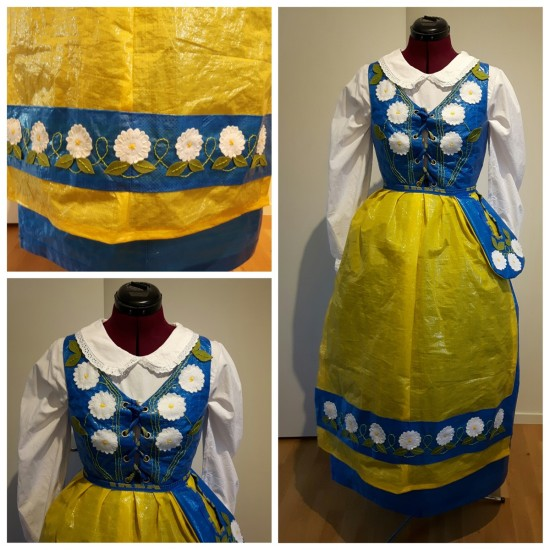 swedish traditional costume made from ikea bags boing boing