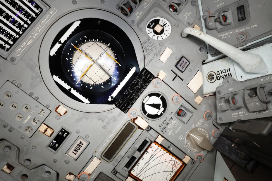 Astronaut Graffitti, Apollo 11 interior. Smithsonian Institution photo
