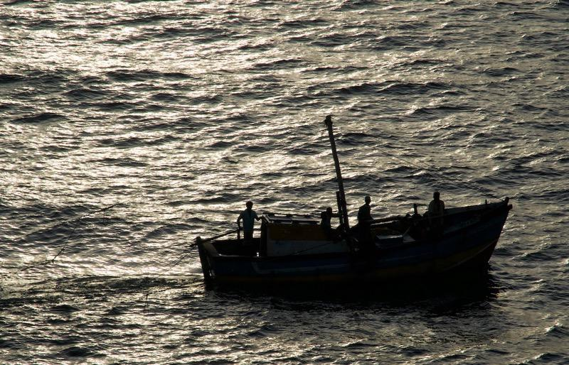 As we left Colombo harbor early in the morning, we passed numerous small boats coming in from the fishing grounds.