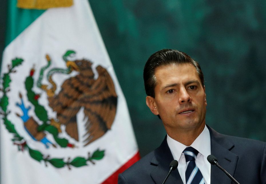 President Enrique Peña Nieto this month at the National Palace in Mexico City. He has been criticized for setting up a meeting with Donald J. Trump, the Republican presidential nominee. REUTERS