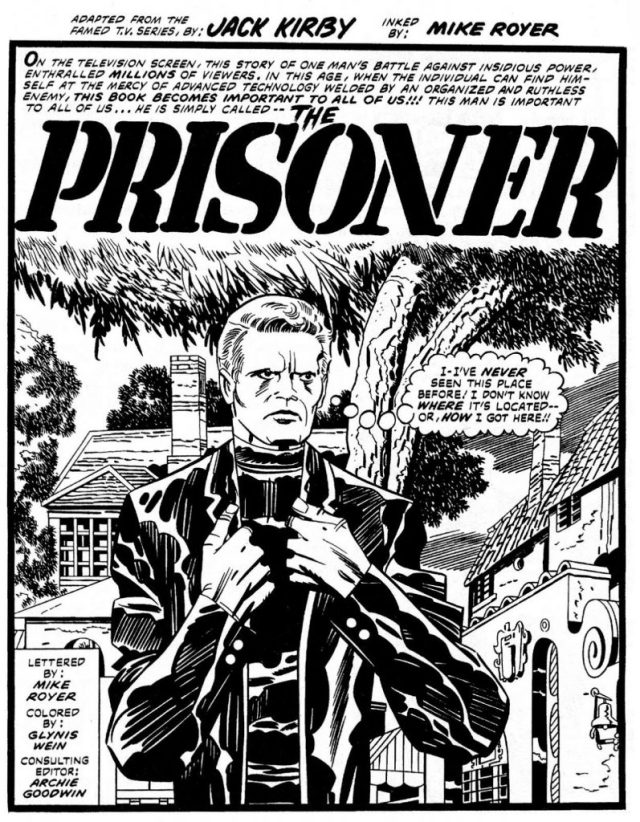 "Jack Kirby's long-lost, incomplete ""The Prisoner"" comic book"