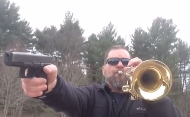 Mario Theme Performed With Trumpet And Handgun Boing Boing