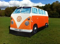 A Volkswagen microbus tent, for camping or just hanging ...
