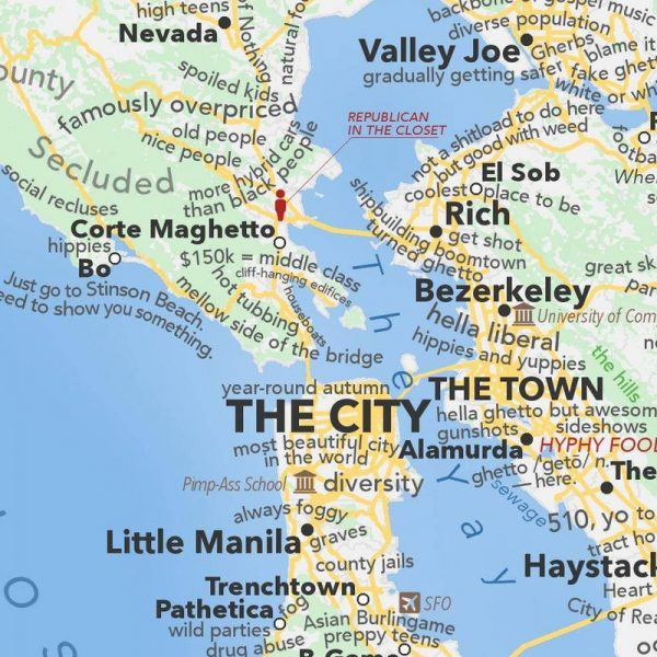 Rent In San Francisco Bay Area: San Francisco Bay Area Map According To Urban Dictionary