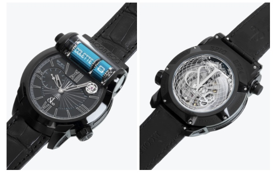 crazy expensive watch with a flip clock display boing boing