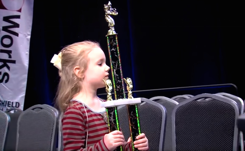Girl, 5, youngest ever to win regional spelling bee