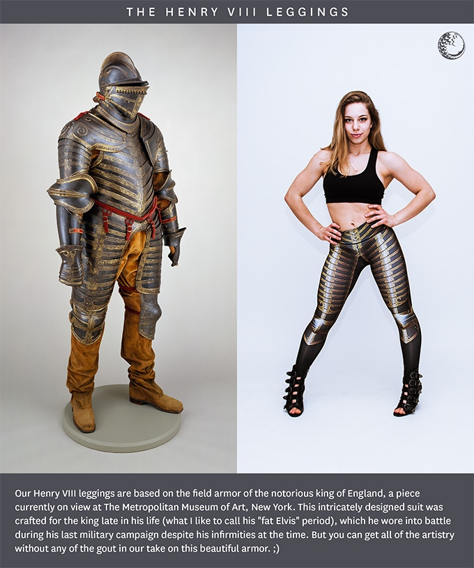 Historically accurate leggings based on medieval armor