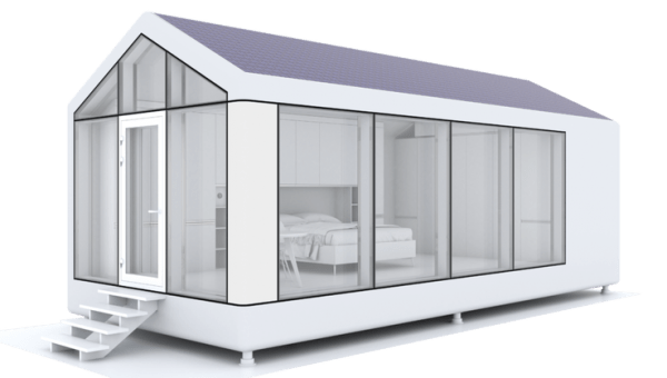 tiny house water system. The First Model, ModulOne, Includes Solar Panels That Power Climate Control System, A Clean Water System Takes Moisture From Air, Tiny House