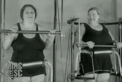 A 1930 news reel about a nutty weight loss contraption, starring Pesco's grandmother