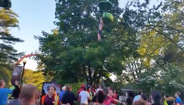 Watch: Teenage girl falls out of ride at Six Flags, drops into crowd