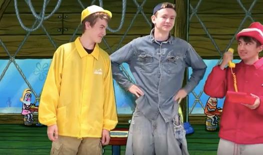 Watch: Teenagers' hilariously ridiculous reenactment of entire SpongeBob SquarePants episode
