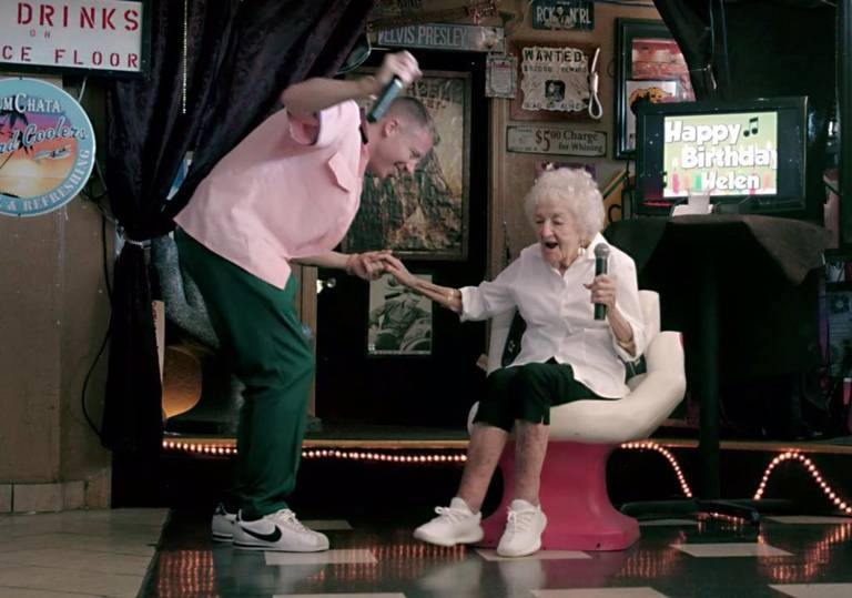 Macklemore Has Fun With His Grandma In