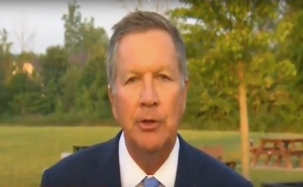 "Governor Kasich calls Trump's behavior ""pathetic"" and likens it to Germany in the 1930s"