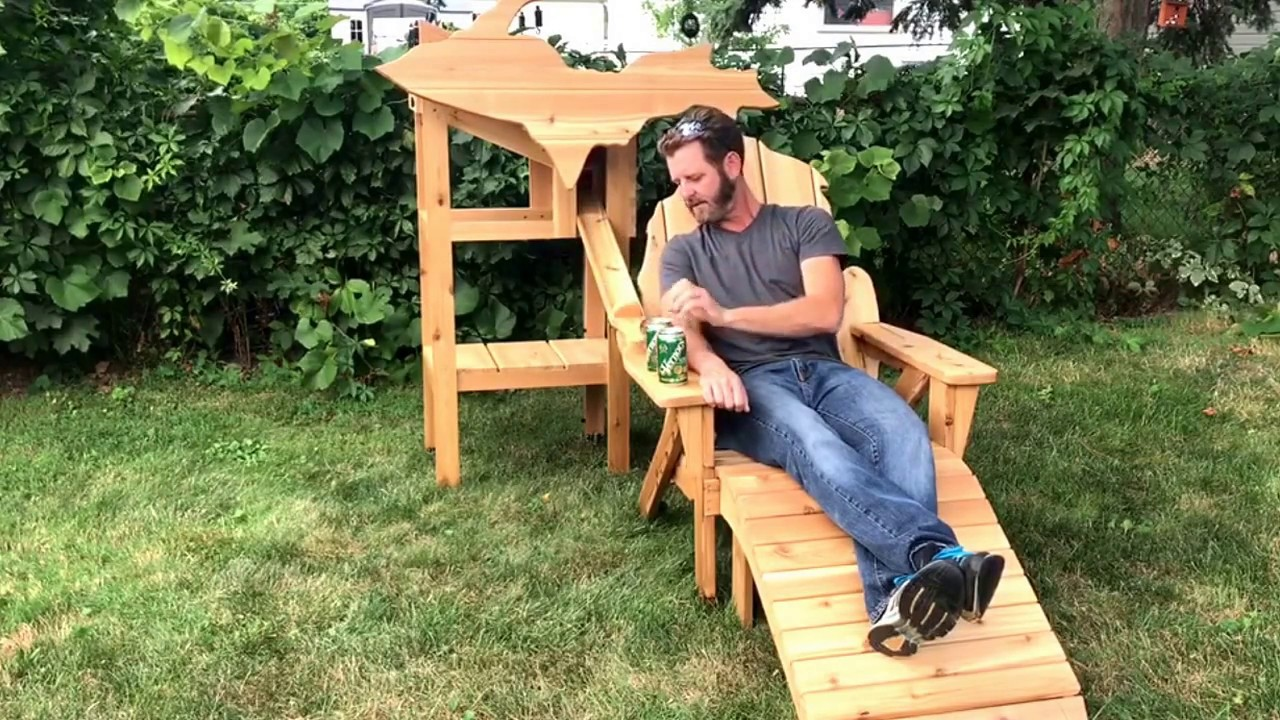 michigan adirondack chair acapulco patio this shaped dispenses cold beverage cans boing