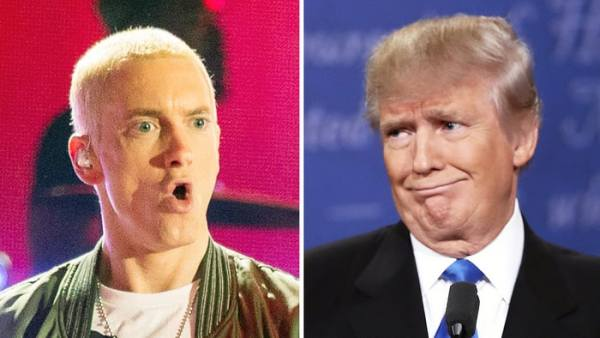 "Watch Trump ""endorse"" Eminem back in 2004"