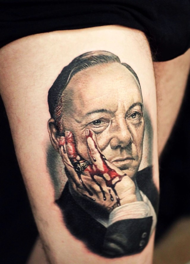 Unfortunate tattoos: Kevin Spacey edition