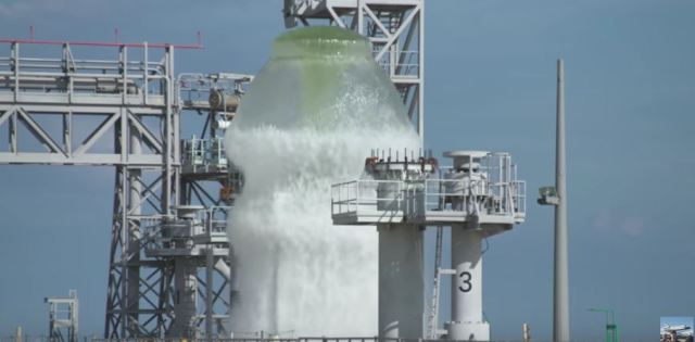 NASA uses 450,000 gallons of water to shield launch vehicles from acoustic damage