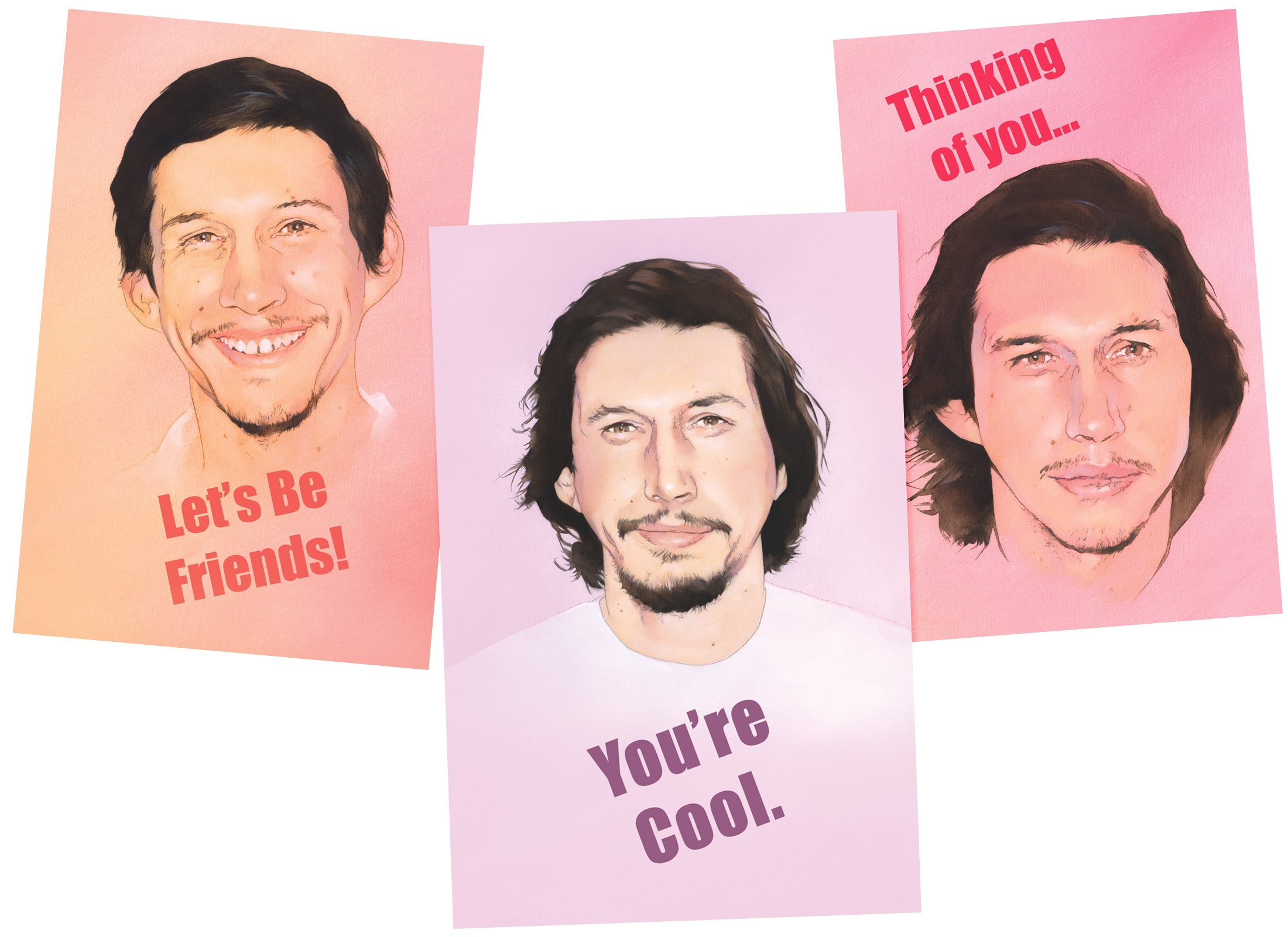Confuse Loved Ones With Adam Driver Valentine's Day Cards