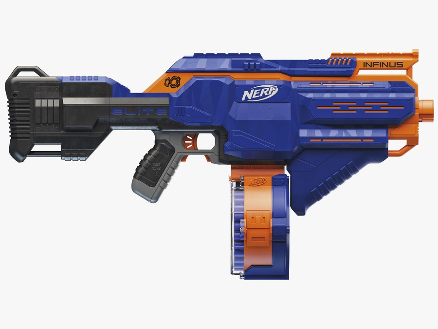 ... the Zombie Strike Survival System Scravenger has twin dart-clips and a  breakaway secondary blaster with two holdout shots; while the Nitro  Doubleclutch ...
