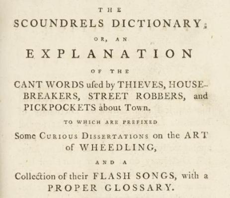 A 1788 dictionary of vulgar slang