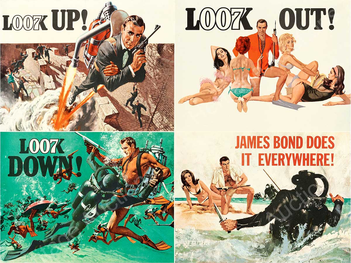 James Bond poster for Thunderball expected to fetch $10k at auction