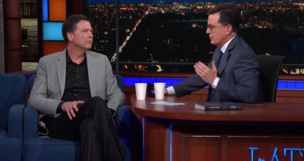 Stephen Colbert's interview with former FBI director James Comey