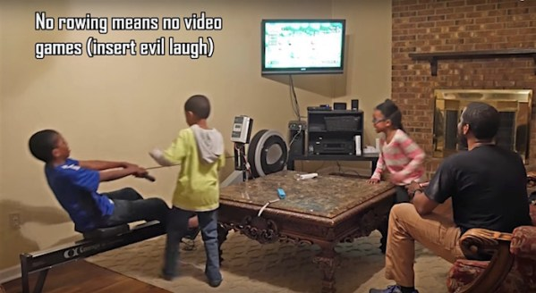 Watch: These kids have to use rowing machine if they want to play their video games