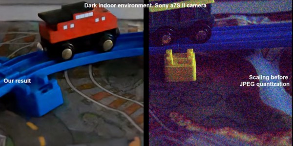 Watch how machine learning can enhance low-light images