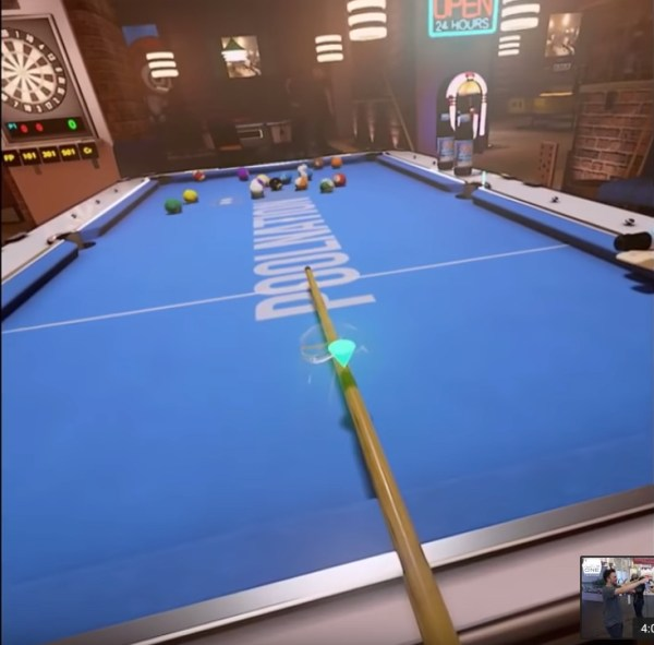 Snooker champ plays VR snooker, falls over because it feels so real