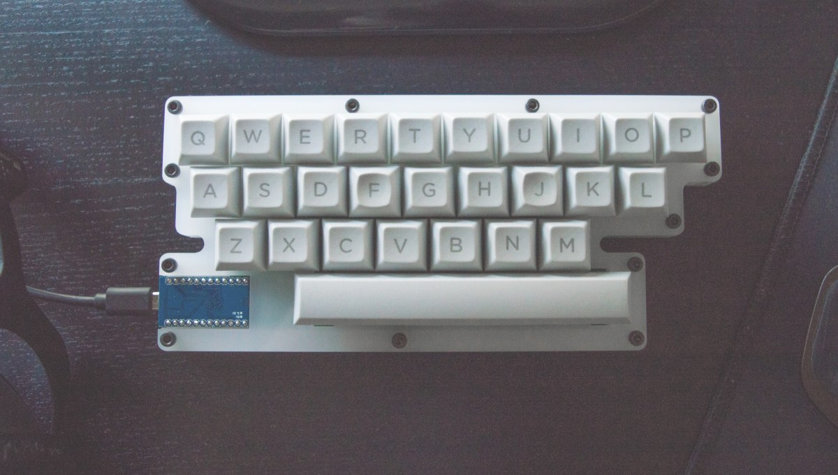 Keyboard With Only The Letters Of The Alphabet And A Space