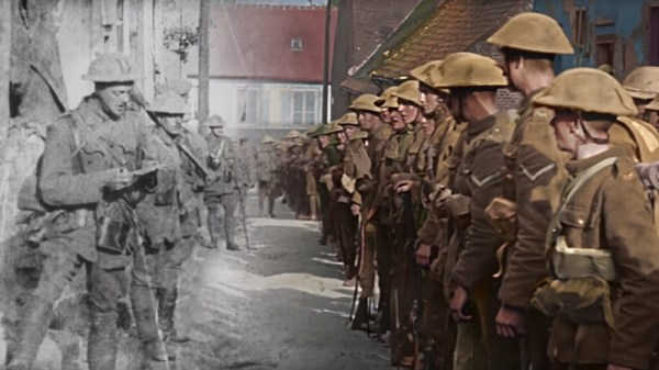 Peter Jackson shares clips from his World War I film restoration