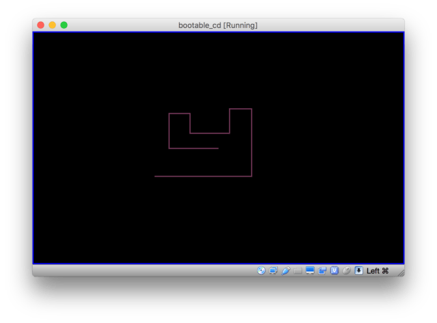 Snake game, complete with bootage CD image, in a tweet