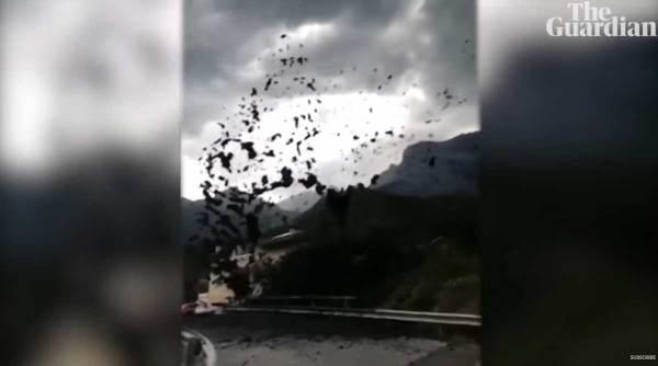 Monstrous mudslide invades Swiss village