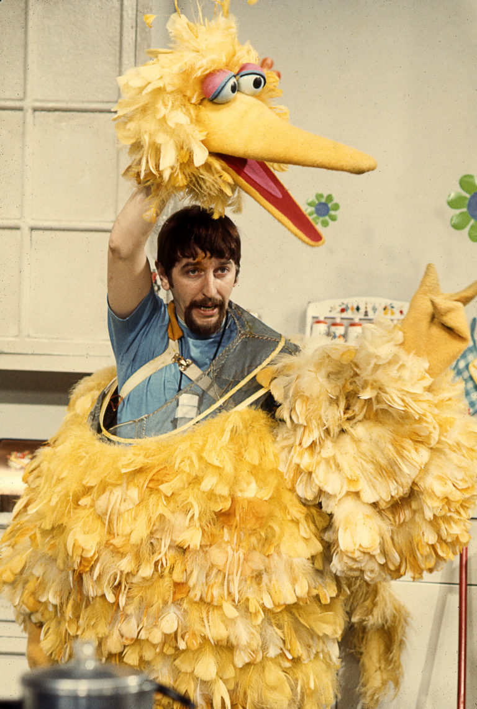 Big Bird and Oscar the Grouch puppeteer Caroll Spinney